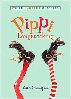 Pippi Longstocking by Astric Lindgren. Escapades of a lucky little girl who lives with a horse and a monkey--but without any parents--at the edge of a Swedish village.