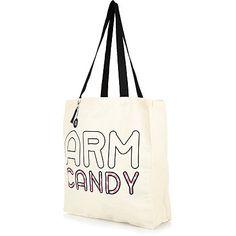 Cream arm candy print canvas shopper bag £2.00 #riverisland Canvas Shopper Bag, Satchel, Crossbody Bag, Womens Purses, Bag Accessories, Purses And Bags, Arms, Reusable Tote Bags, Shoulder Bag