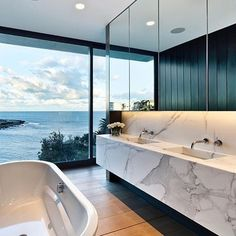 Lovely bathrooms designs💙 swipe for more. #h2interiors #homeinspo #bathroomdesign #homegoals #homedecor #interiordesign #architect #luxuryhomes #luxurylifestyle - posted by Home Inspo https://www.instagram.com/h2interiors - See more Luxury Real Estate photos from Local Realtors at https://LocalRealtors.com/stream