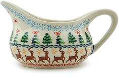 Polish Pottery Gravy Boat 19 oz Christmas Fesitval *** Detailed information can be found by clicking on the image