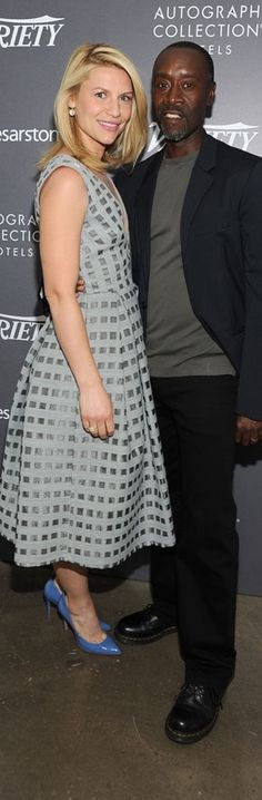 Claire Danes in Erdem and Don Cheadle – Variety's Actors on Actors: Emmy Edition