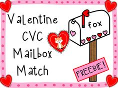 FREEBIE!  Give your students practice reading cvc words with this Valentine themed freebie game!  K/1