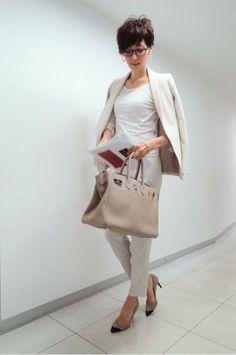 Office Fashion, Business Fashion, Work Fashion, Curvy Fashion, Daily Fashion, Womens Fashion, Japanese Fashion, Korean Fashion, Beige Style