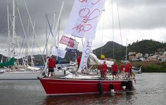 Jules, a Salamander Skipper in the UK during the summer season, taking time out racing between Las Palmas in the Canaries to Rodney Bay in St. Lucia in the Caribbean, on board Scarlet Oyster, winning in their Class in the ARC Atlantic Rally.