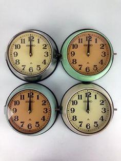 99abc6b8c4db Vintage Steel Ship's Clock – Choice of Three Original Colours £80.00 (ex  VAT)