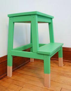 Oakland Avenue: DIY Dipped Ikea Bekvam Step Stool Hack