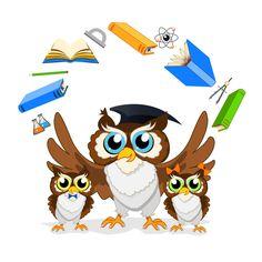 Cartoon owl with school background vector 06 - WeLoveSoLo Little Girl Cartoon, Little Girls, Owl School, School Board Decoration, Owl Cartoon, Owl Pictures, Owl Crafts, Wise Owl, Owl Art