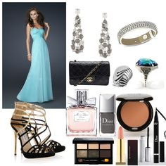 Love the vintage Chanel bag in this entry for the Prom Date fashion mission