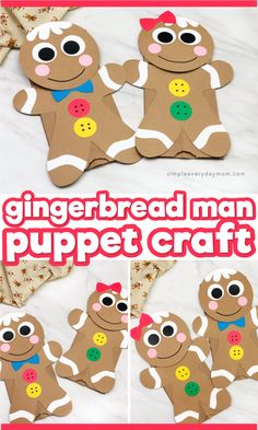Christmas Crafts kindergarten This brown paper bag gingerbread man puppet is a fun Christmas craft for kids of all ages from preschool, to kindergarten and elementary age. It comes with a free printable template so its a simple DIY project kids will love! Gingerbread Man Crafts, Gingerbread Man Activities, Christmas Activities For Kids, Winter Crafts For Kids, Preschool Christmas, Christmas Gingerbread Man, Gingerbread Man Kindergarten, Gingerbread Man Template, Cheap Christmas Crafts