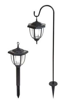 Yards & Beyond Dual Use Coach Style Solar Lights – 2 Pack