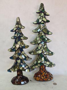 MOSAIC CHRISTMAS TREES by BOREEJON on Etsy, $125.00