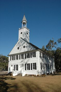Midway Church GA Liberty County Historic Colonial Structure Congregation Photo Copyright Brian Brown Vanishing South Georgia