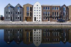 Woonwijk De Laak in Amersfoort in aanbouw, van architect Rob Krier. Foto NRC / Leo van Velzen