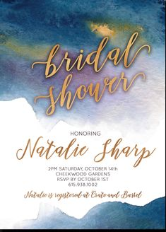 Excited to share the latest addition to my #etsy shop: Bridal Shower Invitation Indigo Midnight Blue Purple Gold Digital Printable Invitation #indigoandgold #midnightblue  #weddings #invitation #bridalshower