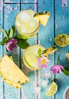 Sip like you're on vacay with this Sweet and Spicy Pineapple Margarita recipe.