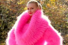 Gorgeous thick and fuzzy hand knitted mohair huge cowlneck sweater dress designed by SuperTanya