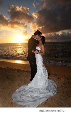 sunset wedding photography