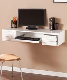 Another great find on #zulily! White Simon Wall Mount Desk #zulilyfinds