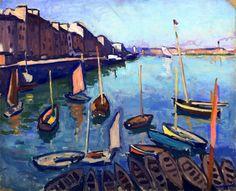 ALBERT MARQUET  Le Havre (1906) Beaucoup plus de Marquet sur la page http://www.pinterest.com/Limodorum/albert-marquet/