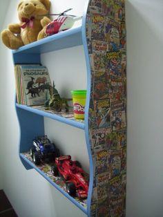 BOYS BEDROOM MARVEL COMIC HERO SHELVES, SHELF, BOOKCASE, TOY STORAGE, http://www.amazon.co.uk/dp/B00ERW0KGQ/ref=cm_sw_r_pi_awd_YQo1sb028F14Z