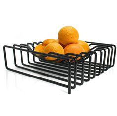 Block Wire Fruit Bowl - Black by Red Candy