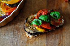 balsamic vinegar, heirloom tomatos, and basil. YUM!