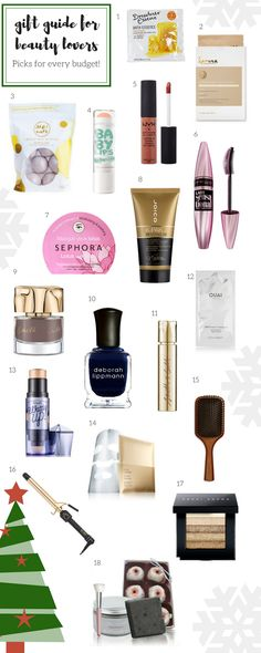 Gift Guide: Looking for the perfect present for the beauty lover in your life? Check out this beauty lover gift guide. It has gifts at every price point ~ Feisty Green Polka Dot