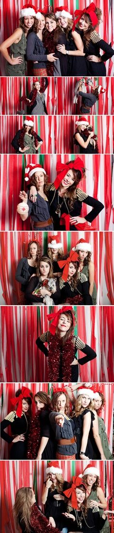 Easy DIY Christmas Photo Booth (for the next Ugly Christmas Sweater party?) | best stuff @Rhiannon Dunn Dunn Waletzko @Kirsten Wehrenberg-Klee Wehrenberg-Klee Henk   background for christmas photo!!!
