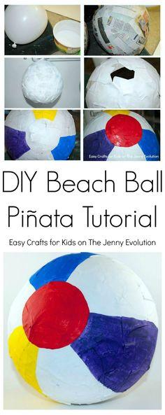 DIY Beach Ball Pinata Tutorial - An awesome idea for a summer party!