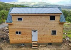 20x30 Cabin. Example shows additional dormer + extra windows. http://jamaicacottageshop.com/shop/20x30-cabin-2/ #jamaicacottageshop #cabins #largecabin #postandbeam