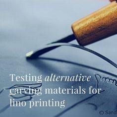 Testing alternative carving materials for lino printing - ARTiful: painting demos Linocut Prints, Art Prints, Block Prints, Gravure Illustration, Impression Textile, Linoleum Block Printing, Stamp Carving, Linoprint, Woodblock Print