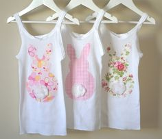 A little bit of quiet: Fluffy-tailed Bunny Singlets (sew or no sew)