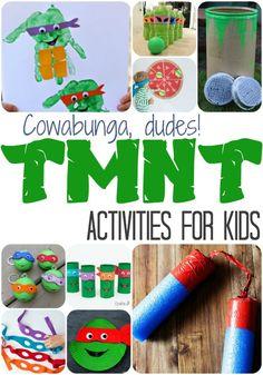 TMNT Kids Activities - Teenage Mutant Ninja Turtles kids activities they will love!