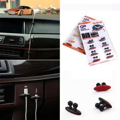 8Pcs/Lot Car Wire Cable Holder Tie Clip Fixer Organizer Adhesive Car Charger Line Clasp Clamp USB Cable Car Clip Accessories
