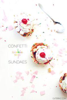 confetti cookie cup