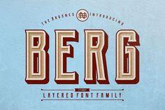 Berg - Free Layered Font Family
