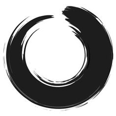 """ensō. it symbolizes a moment when the mind is free to simply let the body/spirit create. it symbolizes the absolute enlightenment, strength, elegance, the universe, and the void. as an """"expression of the moment"""" it is often considered a form of minimalist expressionist art."""