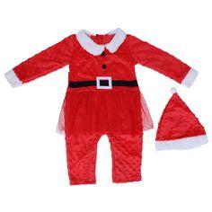 Lovely Christmas Newborn Baby Girl And Boy Winter Bodysuit Christmas