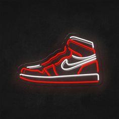 Jordan Logo Wallpaper, Wallpaper Iphone Neon, Nike Wallpaper, Aesthetic Iphone Wallpaper, Dark Red Wallpaper, Words Wallpaper, Logo Neon, Best Jdm Cars, Neon Sneakers