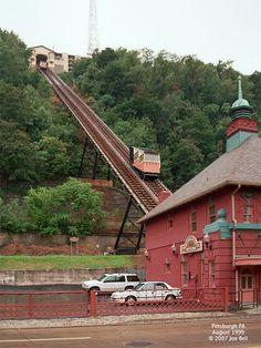 Monongahela Incline   The Monongahela Incline-Pittsburgh,PA. I used to take this up and down ...