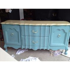 Cream and Provence Chalk Paint® decorative paint by Annie Sloan