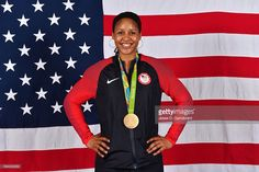 Maya Moore #7 of the USA Basketball Women's National Team poses after winning the Gold Medal at the Rio 2016 Olympic games on August 20, 2016.