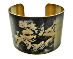 Frida+Kahlo+cuff+bracelet+brass+or+stainless+by+UniqueArtPendants,+$30.00