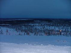Night skiing in Levi, Finnish Lapland