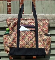 Large Fabric Travel Tote by humblehrtdesigns on Etsy, $69.00
