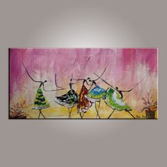 Ballet Dancer Painting Canvas Art Abstract Art by TopTextureArt