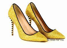 J Crew Roxie Glitter Pumps Size 7 Style B5068 Yellow/Black Heels New #JCrew #PumpsClassics