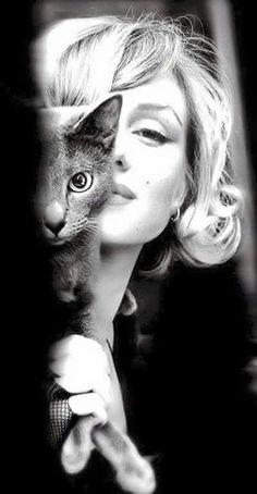 Marilyn y su gato