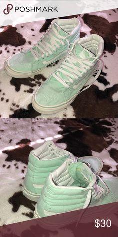e8c1ca3de9ff84 Mint Green Old Skool Hightop Vans Only worn a few times