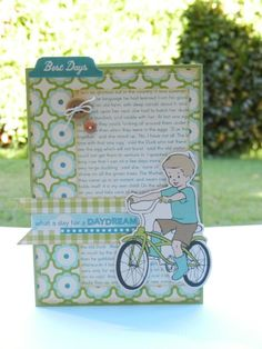 Daydream card using October Afternoon Sidewalks